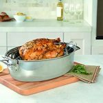 Viking-Culinary-3-Ply-Stainless-Steel-Oval-Roaster-with-Metal-Induction-Lid-and-Rack-85-Quart-0-1