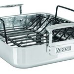 Viking-Culinary-3-Ply-Stainless-Steel-Roasting-Pan-and-Non-Stick-Rack-16-Inch-by-13-Inch-0