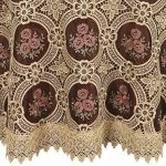 Vintage-Elegant-Beige-Lace-Tablecloth-Linen-Embroidered-Flower-Burgundy-Translucent-Gauze-Customer-Order-0-0