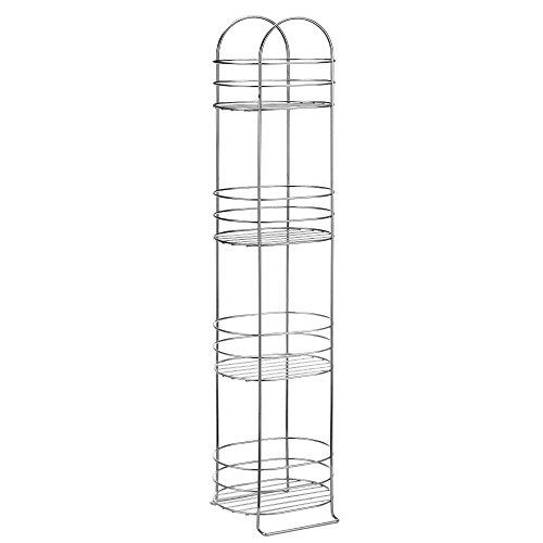 VonHaus-4-Tier-Chrome-Bathroom-Storage-Organizer-Stand-Space-Saver-Floor-Shelf-Rack-for-Bathroom-Accessories-0-0