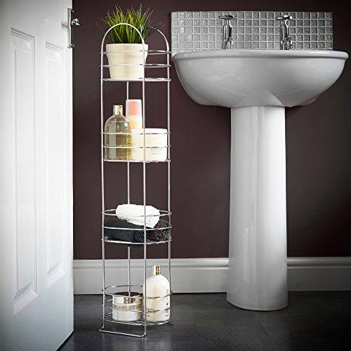 VonHaus-4-Tier-Chrome-Bathroom-Storage-Organizer-Stand-Space-Saver-Floor-Shelf-Rack-for-Bathroom-Accessories-0-1