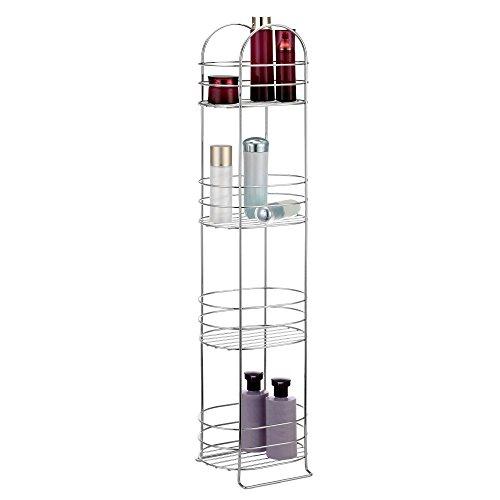 VonHaus-4-Tier-Chrome-Bathroom-Storage-Organizer-Stand-Space-Saver-Floor-Shelf-Rack-for-Bathroom-Accessories-0