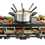 VonShef-Raclette-Party-Grill-with-6-Fork-Fondue-Set-12-Raclette-Pans-0