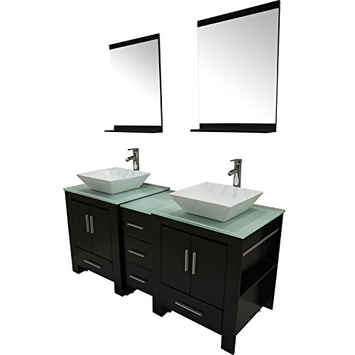 Walcut-Luxury-60-Modern-Double-Ceramic-Sink-Solid-Wood-Bathroom-Vanity-Cabinet-With-Mirror-And-Tempered-Glass-Table-Board-0-0