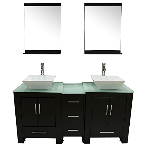 Walcut-Luxury-60-Modern-Double-Ceramic-Sink-Solid-Wood-Bathroom-Vanity-Cabinet-With-Mirror-And-Tempered-Glass-Table-Board-0