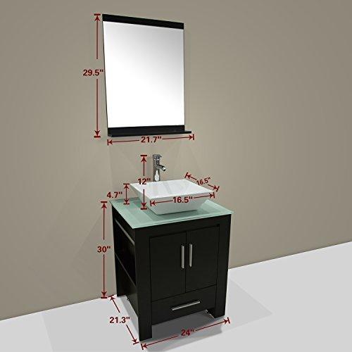 Walcut-New-24-Wood-Bathroom-Vanity-Cabinet-Ceramic-Sink-Bowl-Modern-Contemporary-Design-wMirror-0-0