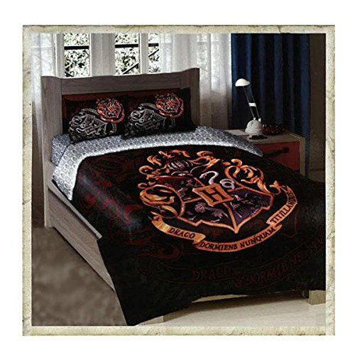 Warner-Brothers-Harry-Potter-School-Motto-TwinFull-Comforter-with-2-Pillow-Shams-by-The-Northwest-Company-0