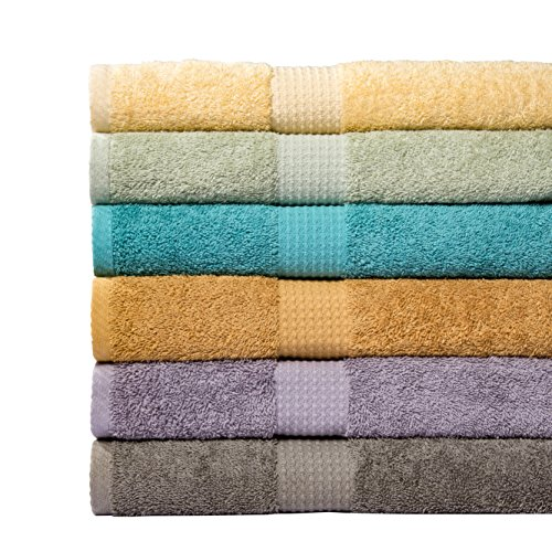 Weavely-Supersoft-100-Superior-Cotton-6-Piece-Bath-Towel-Set-Hotel-Spa-QualityTowel-2-x-Bath-Towels-30X56-2-x-Hand-Towels-16X28-2-x-Wash-Cloths-13×13-0-0