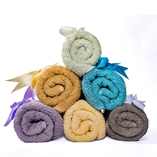 Weavely-Supersoft-100-Superior-Cotton-6-Piece-Bath-Towel-Set-Hotel-Spa-QualityTowel-2-x-Bath-Towels-30X56-2-x-Hand-Towels-16X28-2-x-Wash-Cloths-13×13-0-1