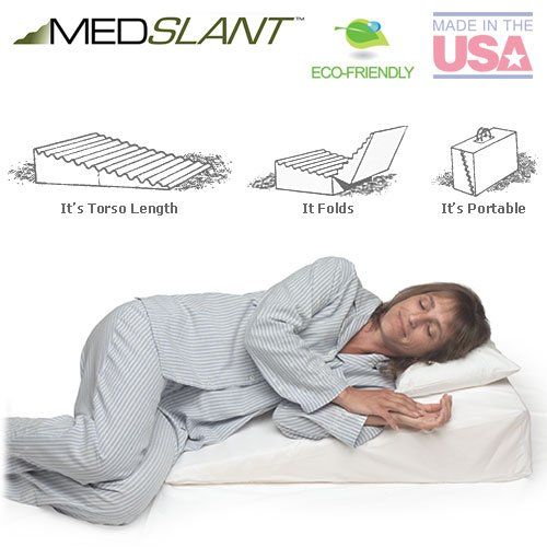 Wedge-Pillow-for-Acid-Reflux-32x24x7-Folding-Pillow-includes-a-Zippered-Poly-Cotton-Folding-Cover-Fitted-Poly-Cotton-Cover-and-Quality-Carry-Case-Recommended-by-Dr-Mike-Roizen-as-a-Reflux-and-Snoring–0-0