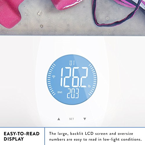Weight-Gurus-Wifi-Smart-Connected-Body-Fat-Scale-w-Backlit-LCD-ITO-Conductive-Surface-Technology-0-1