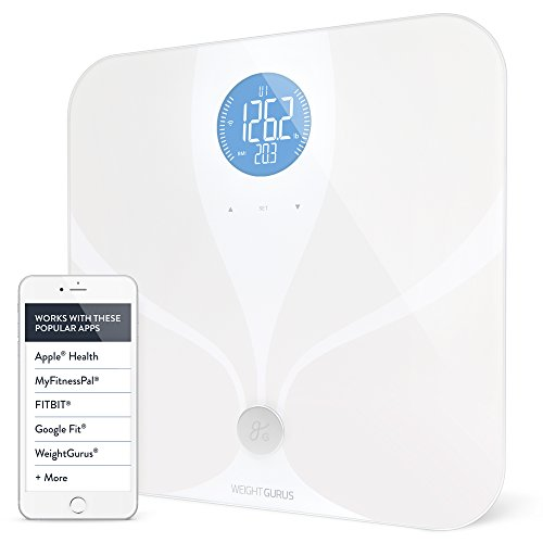 Weight-Gurus-Wifi-Smart-Connected-Body-Fat-Scale-w-Backlit-LCD-ITO-Conductive-Surface-Technology-0