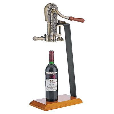 Wine-Enthusiast-Legacy-Corkscrew-with-Birch-Stand-Antique-Bronze-0