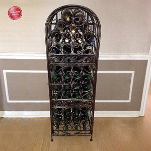 Wine-Enthusiast-Renaissance-Wrought-Iron-Wine-Jail-0