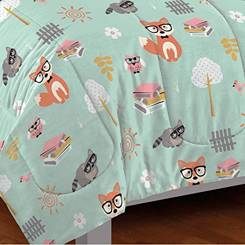 Woodland-Friends-5-Piece-Mini-Bed-in-a-Bag-Set-Twin-by-CHF-0-1