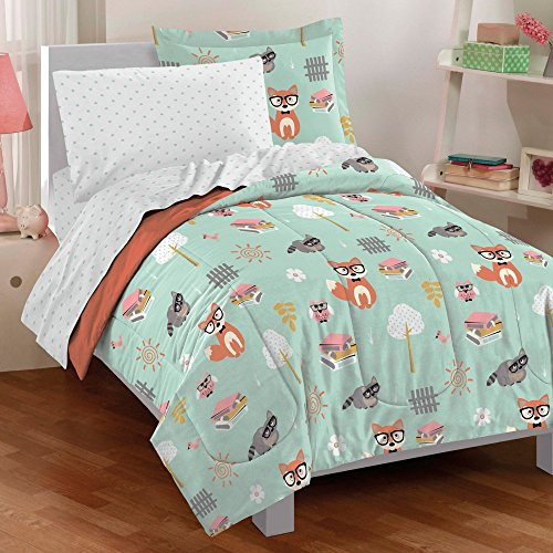 Woodland-Friends-5-Piece-Mini-Bed-in-a-Bag-Set-Twin-by-CHF-0