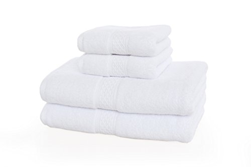YOUNIQUE-100-Cotton-Bath-Towel-Set-4-Piece-includes-2-Bath-Towels-275-x-55-2-Hand-Towels-13-x-29-0