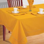 Yellow-Table-Linen-Set-for-6-Seat-Table-Includes-Rectangular-Tablecloth-6-Napkins-Table-Runner-Premium-Cotton-Fabric-0