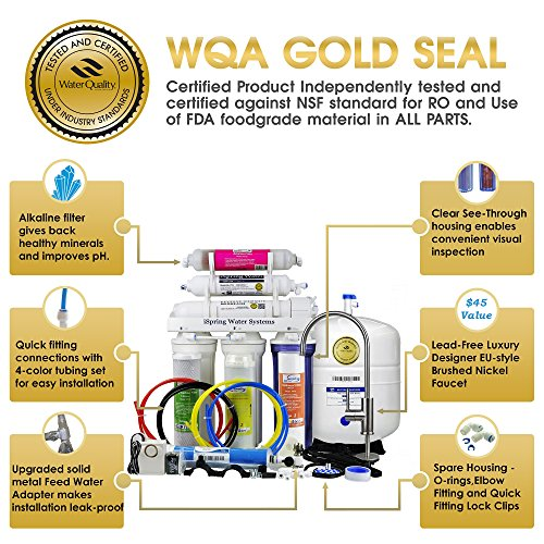 iSpring-RCC7AK-6-Stage-Residential-Under-Sink-Reverse-Osmosis-Water-Filter-System-w-Alkaline-Remineralization-WQA-Gold-Seal-Certified-75-GPD-0-1