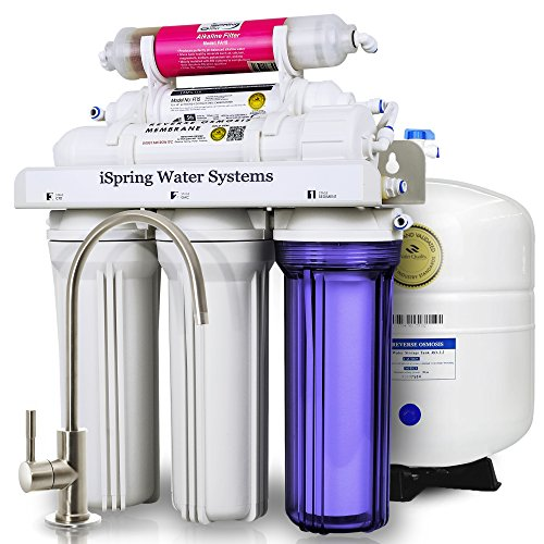 iSpring-RCC7AK-6-Stage-Residential-Under-Sink-Reverse-Osmosis-Water-Filter-System-w-Alkaline-Remineralization-WQA-Gold-Seal-Certified-75-GPD-0