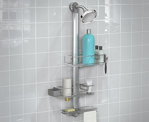 simplehuman-Adjustable-Shower-Caddy-Plus-Extendable-Stainless-Steel-and-Anodized-Aluminum-0-1
