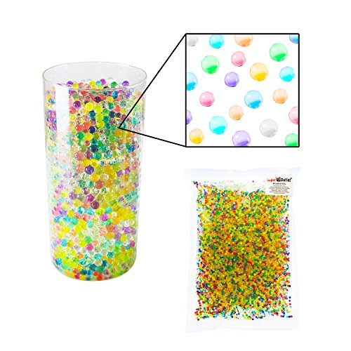 1-Pound-Mixed-Bag-of-Assorted-Multi-Color-Water-Gel-Pearls-Beads-for-Home-Decoration-Wedding-Centerpiece-Vase-Filler-Plants-Toys-Education-Makes-12-Gallons-by-Super-Z-Outlet-0