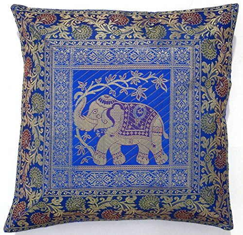 10-Pc-Lot-Square-Silk-Home-Decor-Cushion-Cover-Indian-Silk-Brocade-Pillow-Cover-Handmade-Banarsi-Pillow-Cover-16-X-16-Inch-0-0