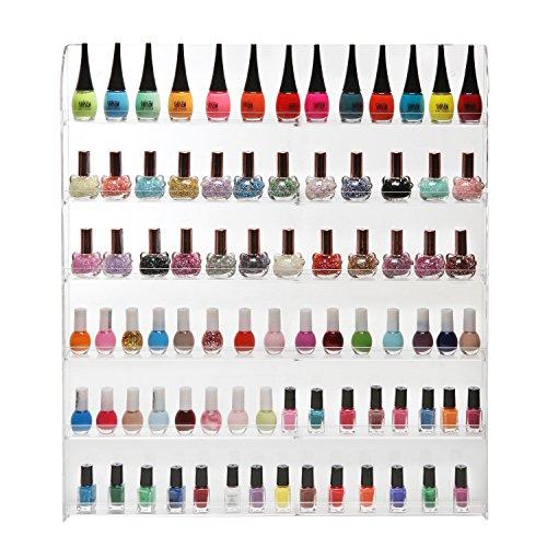 102-Bottles-6-Shelf-Pro-Acrylic-Nail-Polish-Rack-Salon-Wall-Mounted-Organizer-Display-MyGift-0-0