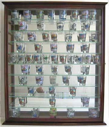 110-Souvenir-Shot-Glass-Shooter-Display-Case-Holder-Cabinet-Wall-Rack-Glass-Door-100-Exposure-SC09-MA-0-0