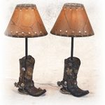 145-Inch-Brown-Cowboy-Boots-Shaped-Lamp-Stencil-Shade-Set-of-2-0