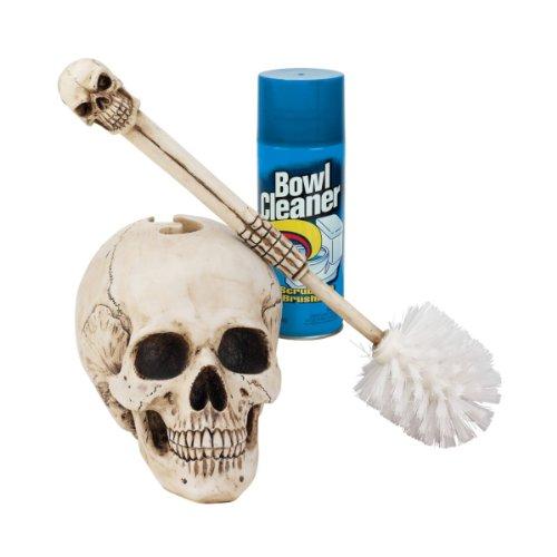 16-Gothic-Skull-Statue-Sculpture-Decorative-Bathroom-Toilet-Bowl-Brush-0