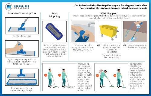 18-Professional-Microfiber-Mop-Stainless-Steel-Handle-Premium-Mop-Pads-2-FREE-Microfiber-Cloths-0-0