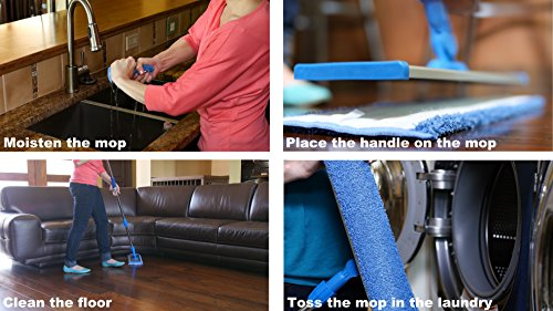 18-Professional-Microfiber-Mop-Stainless-Steel-Handle-Premium-Mop-Pads-2-FREE-Microfiber-Cloths-0-1