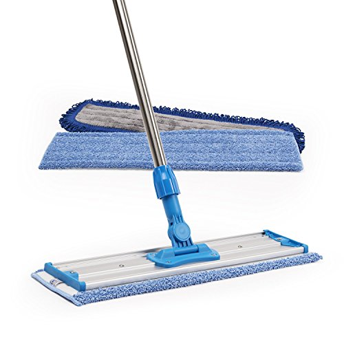 18-Professional-Microfiber-Mop-Stainless-Steel-Handle-Premium-Mop-Pads-2-FREE-Microfiber-Cloths-0