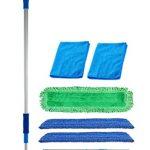 18-inch-Professional-Commercial-Microfiber-Mop-With-Three-18-Premium-Microfiber-Mop-Pads-and-2-Bonus-Microfiber-Towels-0