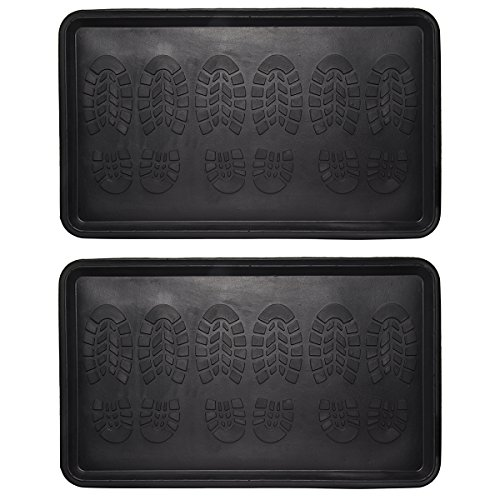 2-Pack-All-Purpose-3-Pair-Rubber-Boot-Trays-Extra-Large-18-x-30-Mat-Drip-Grid-Lip-For-Home-Garage-0-0