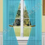 2-Piece-Solid-Turquoise-Sheer-Window-Curtainsdrapepanelstreatment-55w-X-84l-0