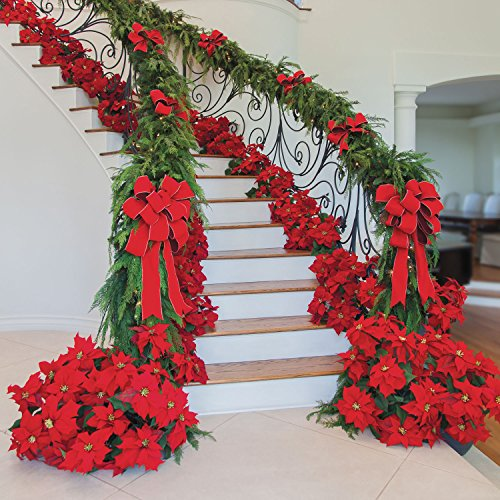 23-Realistic-Red-Artificial-Foil-Potted-Christmas-Poinsettia-Plant-0-0