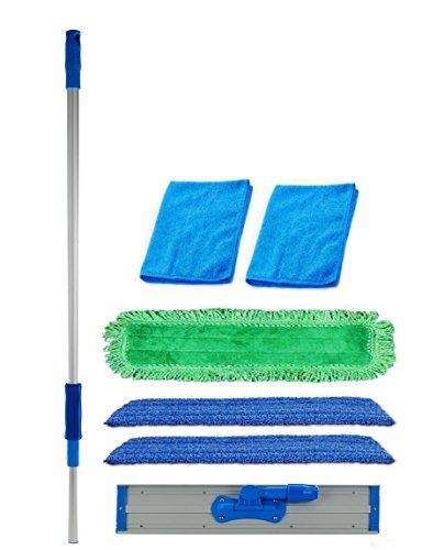 24-inch-Professional-Commercial-Microfiber-Mop-With-Three-24-Premium-Microfiber-Mop-Pads-and-2-Bonus-Microfiber-Towels-0