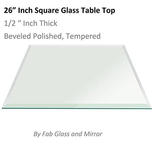 26-Inch-Square-Glass-12-Thick-Bevel-Polish-Tempered-Radius-Corners-0