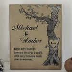 3rd-Anniversary-Tan-Leather-Personalized-Poem-and-Wedding-Date-0