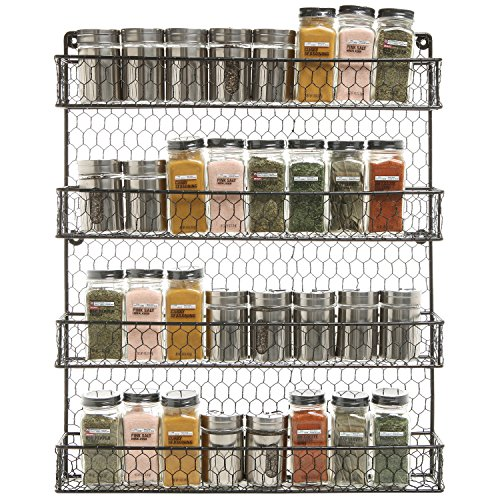 4-Tier-Country-Rustic-Chicken-Wire-Pantry-Cabinet-or-Wall-Mounted-Spice-Rack-Storage-Organizer-0-0