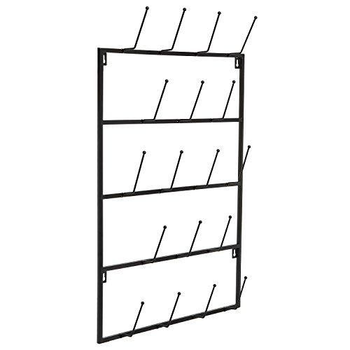5-Tier-Wall-Mounted-18-Hook-Metal-Coat-Hat-Display-Storage-Organizer-Towel-Hanger-Hook-Rack-MyGift-0-0