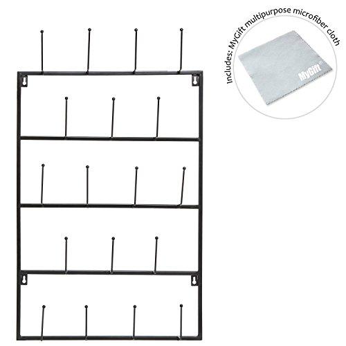 5-Tier-Wall-Mounted-18-Hook-Metal-Coat-Hat-Display-Storage-Organizer-Towel-Hanger-Hook-Rack-MyGift-0-1