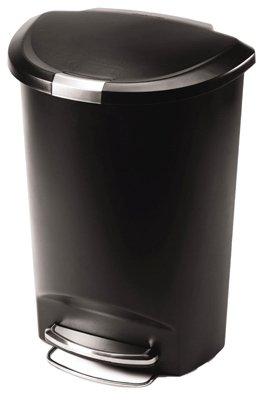 50L-Liter-13-Gallon-Semi-Round-Step-Trash-Can-Plastic-0