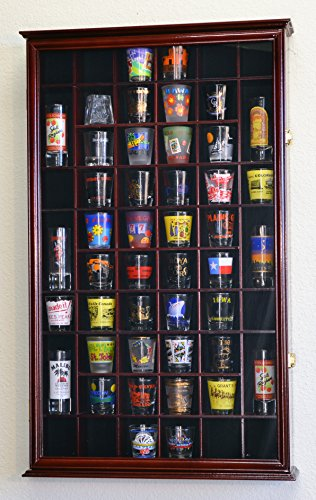 54-Shot-Glass-Shotglass-Shooter-Display-Case-Holder-Cabinet-Wall-Rack-98-UV-with-Locks-0-1