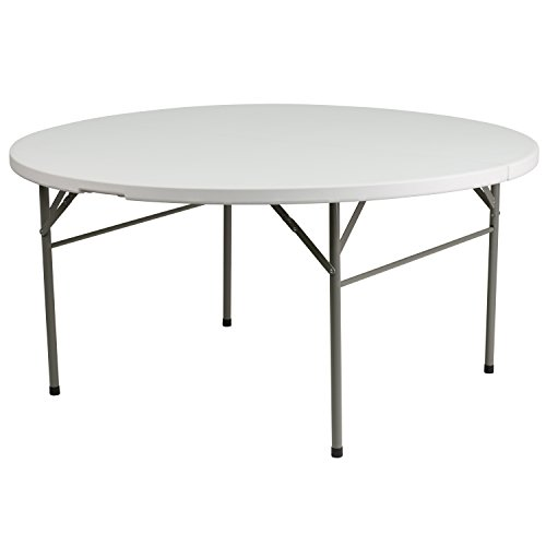 60-Round-Bi-Fold-Granite-Plastic-Folding-Table-0