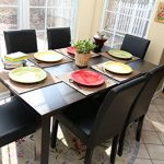 7-pc-Espresso-Leather-Brown-6-Person-Table-and-Chairs-Brown-Dining-Dinette-Espresso-Brown-Parson-Chair-0-0