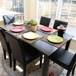 7-pc-Espresso-Leather-Brown-6-Person-Table-and-Chairs-Brown-Dining-Dinette-Espresso-Brown-Parson-Chair-0-1