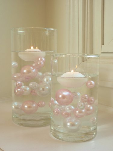 80-Jumbo-Assorted-Sizes-All-Light-Pink-PearlsBaby-Pink-Pearls-Value-Pack-Vase-Fillers-The-Transparent-Water-Gels-to-float-the-Pearls-are-sold-separately-0-1